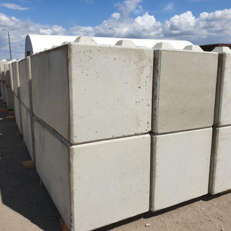 Betonbloki o wymiarach 80x80x160