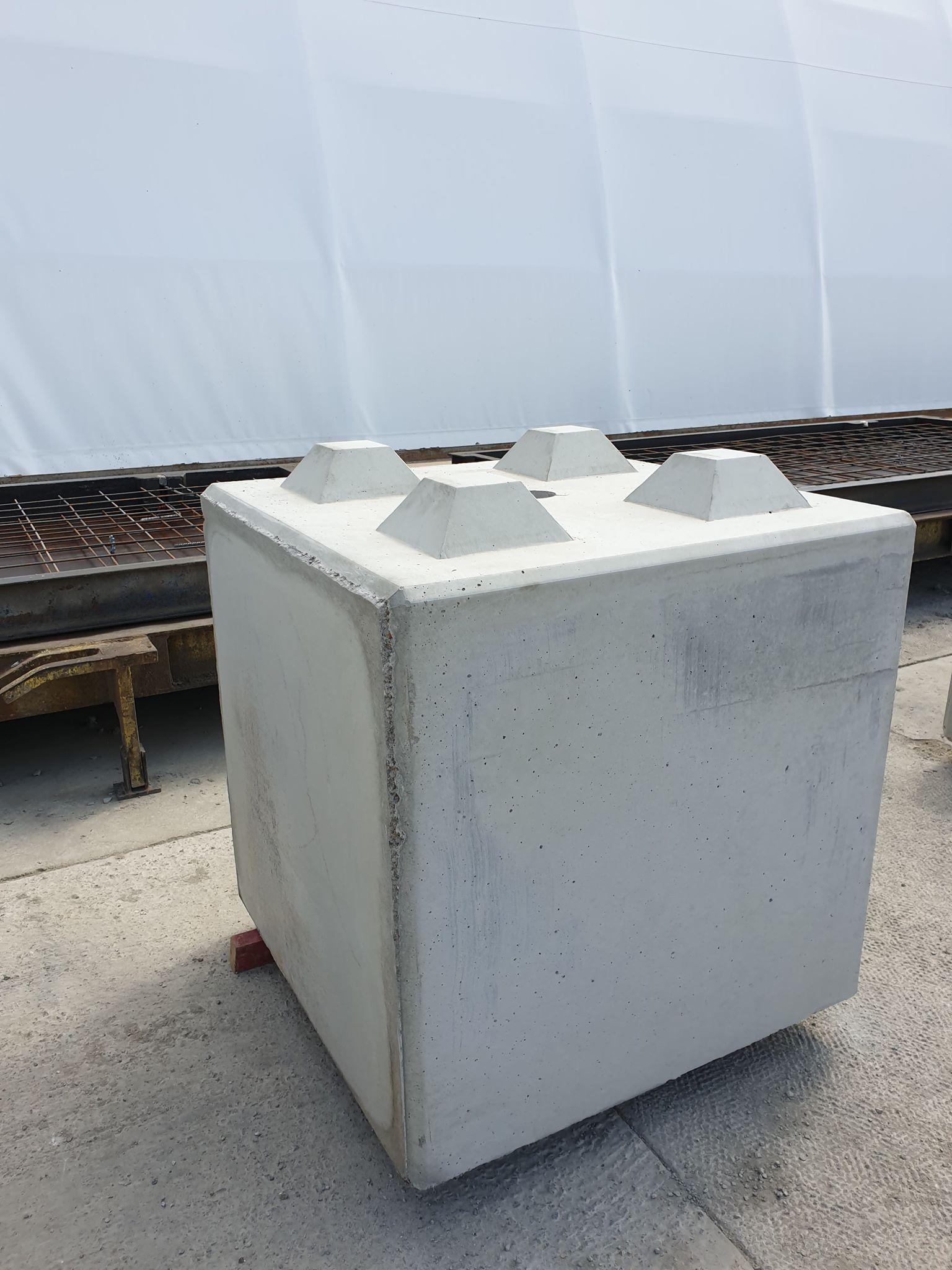 Betonblok 80x80x80