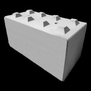 Betonblok 80x80x160, potocznie nazywany klockiem z betonu